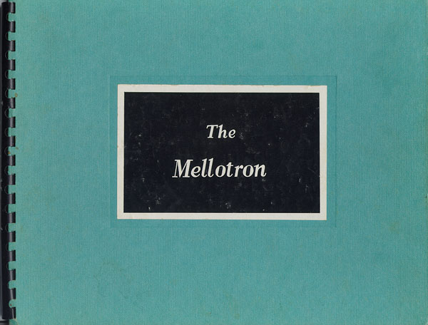 Mellotron Mark II Instruction Manual cover