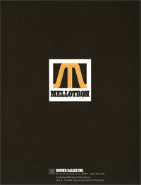 Mellotron USA Catalog 1976